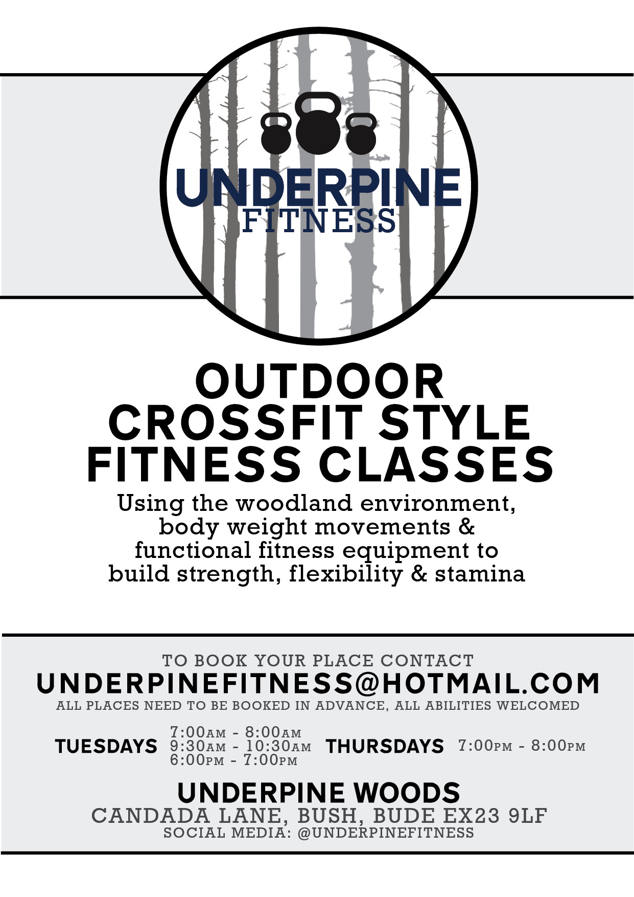 Underpine Fitness Crossfit style classses cornwall
